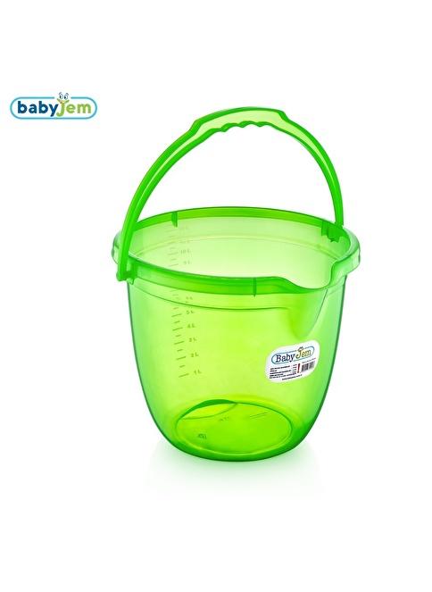 Baby Jem Babyjem Bebek Banyo Kovası Şeffaf  Yeşil